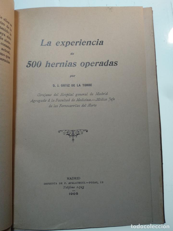 Libros antiguos: SUTURA DE LA ARTERIA ILÍACA EXTERNA EN UN HEMATOMA PULSÁTIL, Y CUATRO OBRAS MAS SOBRE HERNIAS - - Foto 5 - 140752058
