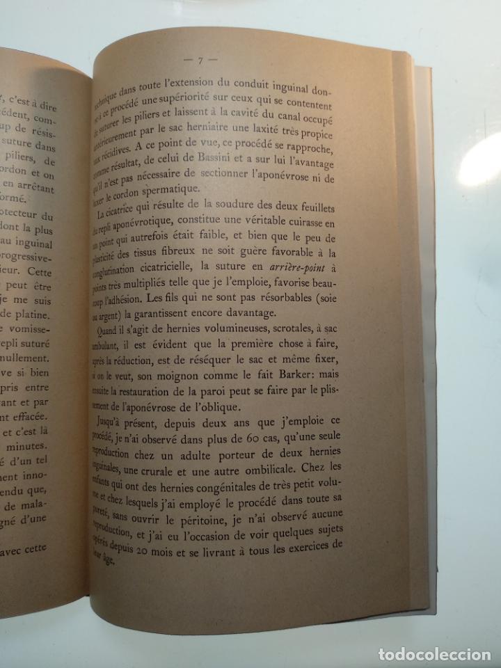 Libros antiguos: SUTURA DE LA ARTERIA ILÍACA EXTERNA EN UN HEMATOMA PULSÁTIL, Y CUATRO OBRAS MAS SOBRE HERNIAS - - Foto 15 - 140752058