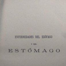 Libros antiguos: ENFERMEDADES DEL ESÓFAGO Y DEL ESTÓMAGO - JUAN MADINAVEITIA - MADRID - 1910 - VICTORIANO SUÁREZ -. Lote 140766630