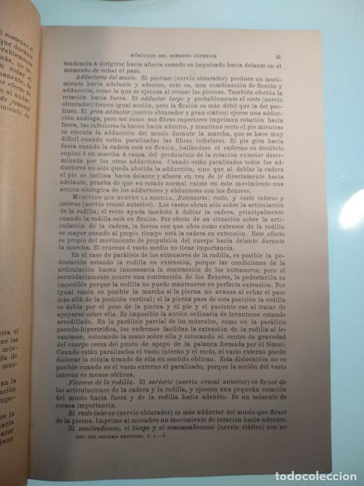 Libros antiguos: ENFERMEDADES DEL SISTEMA NERVIOSO - G. R. GOWERS - 2 TOMOS - TRADUCCIÓN DR. L. GÓNGORA - ESPASA - - Foto 5 - 141343594