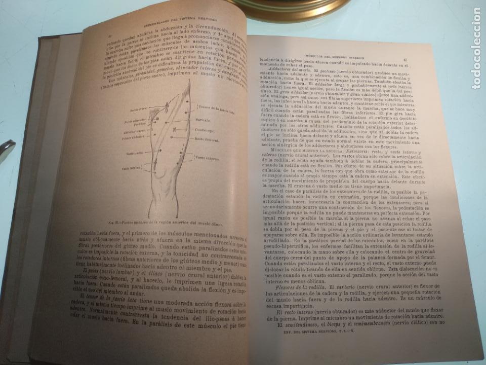 Libros antiguos: ENFERMEDADES DEL SISTEMA NERVIOSO - G. R. GOWERS - 2 TOMOS - TRADUCCIÓN DR. L. GÓNGORA - ESPASA - - Foto 6 - 141343594