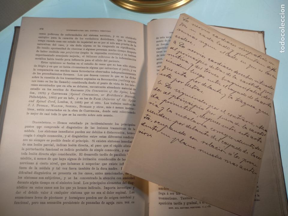 Libros antiguos: ENFERMEDADES DEL SISTEMA NERVIOSO - G. R. GOWERS - 2 TOMOS - TRADUCCIÓN DR. L. GÓNGORA - ESPASA - - Foto 11 - 141343594