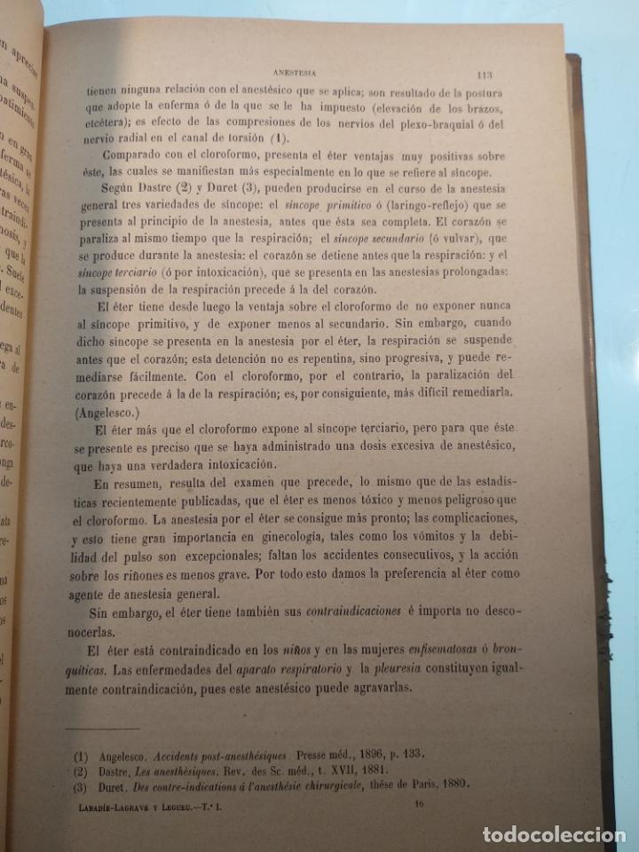 Libros antiguos: TRATADO MÉDICO-QUIRÚRGICO DE GINECOLOGÍA - DOCTORES F. LABADÍELLAGRAVE Y FÉLIX LEGUE - 270 GRABADOS - Foto 7 - 141352306
