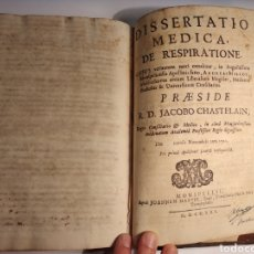 Libros antiguos: ANTIGUO LIBRO ,PATOLOGIA RESPIRATORIA Y FARMACOLÓGIA .LATIN, 1721. DOS PARTES MANUSCRITA E IMPRESA.. Lote 141528564