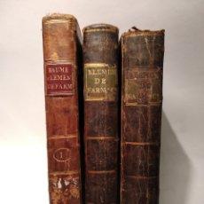 Libros antiguos: LIBROS DE FARMACIA,TEÓRICA Y PRÁCTICA. 3 VOL, M. BAUME. IMPRENTA REAL, MADRID 1793. OBRA COMPLETA. Lote 141806353