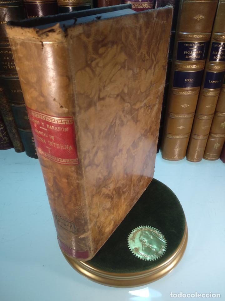 MANUAL DE MEDICINA INTERNA - T. HERNANDO Y GREGORIO MARAÑÓN - TOMO I - MADRID - 1916 - (Libros Antiguos, Raros y Curiosos - Ciencias, Manuales y Oficios - Medicina, Farmacia y Salud)