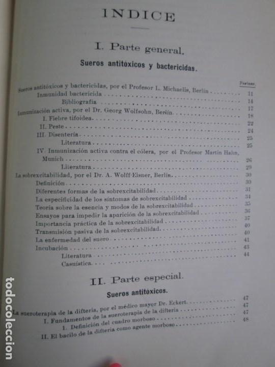 Libros antiguos: TRATADO DE SUEROTERAPIA Y DE TERAPEUTICA EXPERIMENTAL. A. WOLLF EISNER. SATURNINO CALLEJA FERNANDEZ - Foto 23 - 141898282