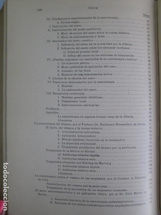 Libros antiguos: TRATADO DE SUEROTERAPIA Y DE TERAPEUTICA EXPERIMENTAL. A. WOLLF EISNER. SATURNINO CALLEJA FERNANDEZ - Foto 24 - 141898282