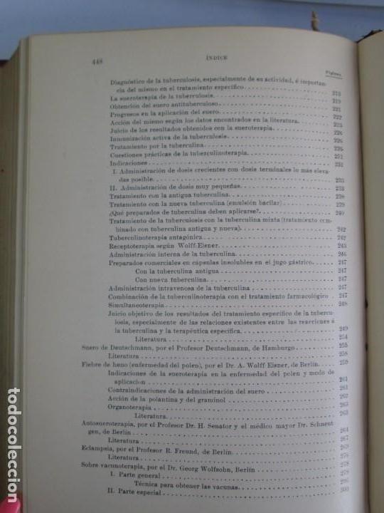 Libros antiguos: TRATADO DE SUEROTERAPIA Y DE TERAPEUTICA EXPERIMENTAL. A. WOLLF EISNER. SATURNINO CALLEJA FERNANDEZ - Foto 26 - 141898282
