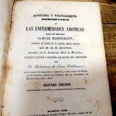 Libros antiguos: DOCTRINA Y TRATAMIENTO HOMEOPATICO DE LAS ENFERMEDADES CRONICAS. - HAHNEMANN, SAMUEL.1849. Lote 142195766