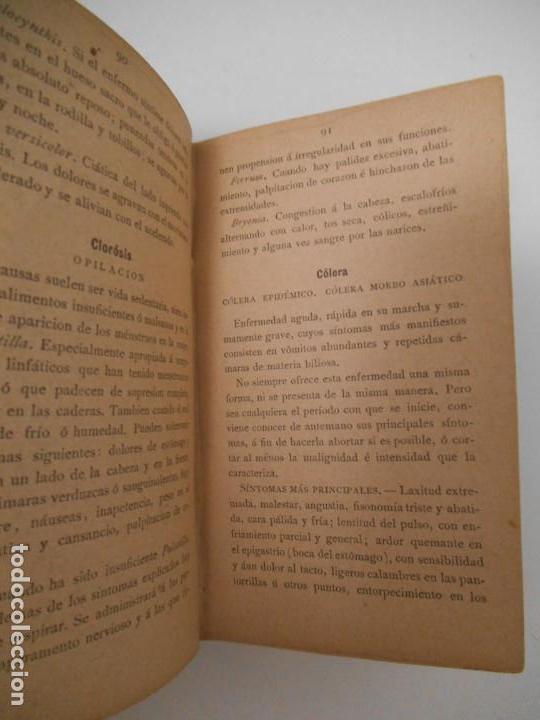 Libros antiguos: LA SALUD. MANUAL DE HOMEOPATIA - 1887 - Farmacia Homeopática - Foto 6 - 142296378
