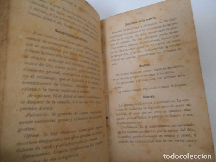 Libros antiguos: LA SALUD. MANUAL DE HOMEOPATIA - 1887 - Farmacia Homeopática - Foto 7 - 142296378