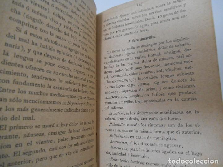 Libros antiguos: LA SALUD. MANUAL DE HOMEOPATIA - 1887 - Farmacia Homeopática - Foto 8 - 142296378
