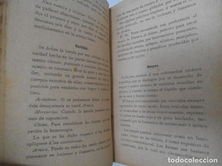 Libros antiguos: LA SALUD. MANUAL DE HOMEOPATIA - 1887 - Farmacia Homeopática - Foto 9 - 142296378