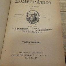 Libros antiguos: EL CONSULTOR HOMEOPATICO, 1887,NUMERO 1 AL 15, EN UN TOMO , 424 PAGINAS, TOP RARO. Lote 142455750