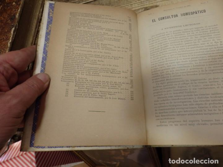 Libros antiguos: EL CONSULTOR HOMEOPATICO, 1887,NUMERO 1 AL 15, EN UN TOMO , 424 PAGINAS, TOP RARO - Foto 5 - 142455750