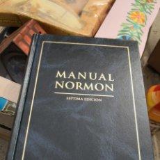 Libros antiguos: MANUAL NORMON - SEPTIMA EDICIÓN - LABORATORIOS NORMON SA - 1999. TAPA DURA. 1042 PÁGINAS . Lote 142773726