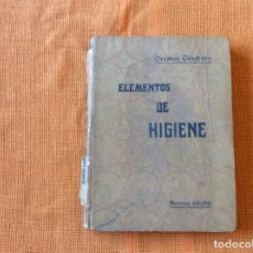 Libros antiguos: ELEMENTOS DE HIGIENE.ORESTES CENDRERO. Lote 143050766