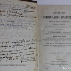 Libros antiguos: NOVISIMO FORMULARIO MAGISTRAL POR A. BOUCHARDAT 1879. Lote 143615482