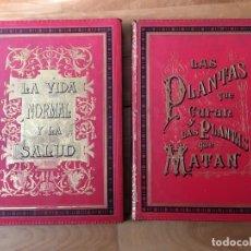 Libros antiguos: LA VIDA NORMAL Y LA SALUD/ PLANTAS QUE CURAN Y PLANTAS QUE MATAN. AÑO 1886. J. RENGADE.. Lote 143637202