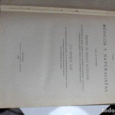 Libros antiguos: QUIMICA PARA MEDICOS Y NATURALISTAS POR A. DE GREGORIO ROCASOLANO Y L. BERMEJO VIDA 1929. Lote 143650366