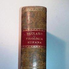 Libros antiguos: TRATADO ELEMENTAL DE FISIOLOGÍA HUMANA. J. BECLARD. Lote 143890946
