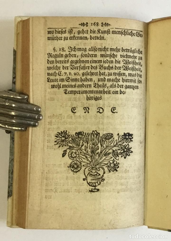 Libros antiguos: WARHAFFTIGER TEMPERAMENTIST, oder Unbetrügliche Kunst der Menschen Gemüther nach ihren natürliche... - Foto 7 - 142425808