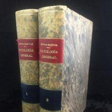 Libros antiguos: MANUAL DE PATOLOGÍA GENERAL. R.NÓVOA SANTOS 1930 2 TOMOS PLENA PIEL ILUSTRADO BUEN ESTADO. Lote 144287214