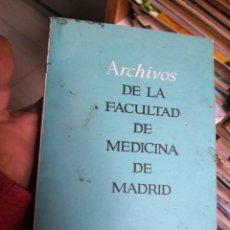 Libros antiguos: ARCHIVOS DE LA FACULTAD DE MEDICINA DE MADRID 1969. Lote 144436138