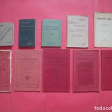 Libros antiguos: MEDICINA.-FARMACIA.-LOTE DE 10 LIBROS DE MEDICINA DE PRINCIPIOS DEL SIGLO XX.. Lote 144733990