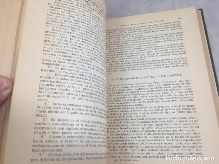 Libros antiguos: Cirugia Clínica Tratado 1895 p. Tillaux dos tomos media piel buen estado - Foto 3 - 221568770