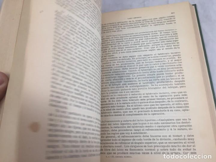 Libros antiguos: Cirugia Clínica Tratado 1895 p. Tillaux dos tomos media piel buen estado - Foto 5 - 221568770