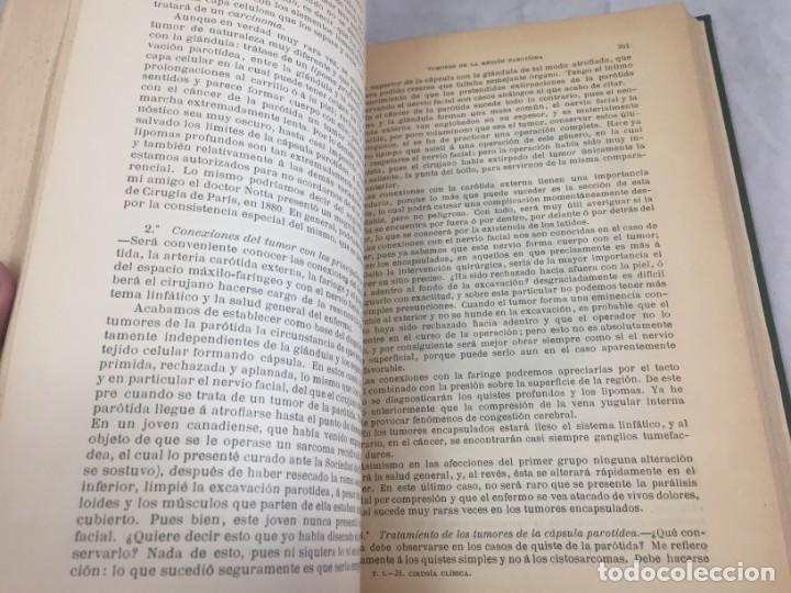 Libros antiguos: Cirugia Clínica Tratado 1895 p. Tillaux dos tomos media piel buen estado - Foto 6 - 221568770