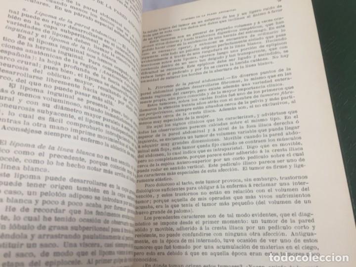 Libros antiguos: Cirugia Clínica Tratado 1895 p. Tillaux dos tomos media piel buen estado - Foto 12 - 221568770