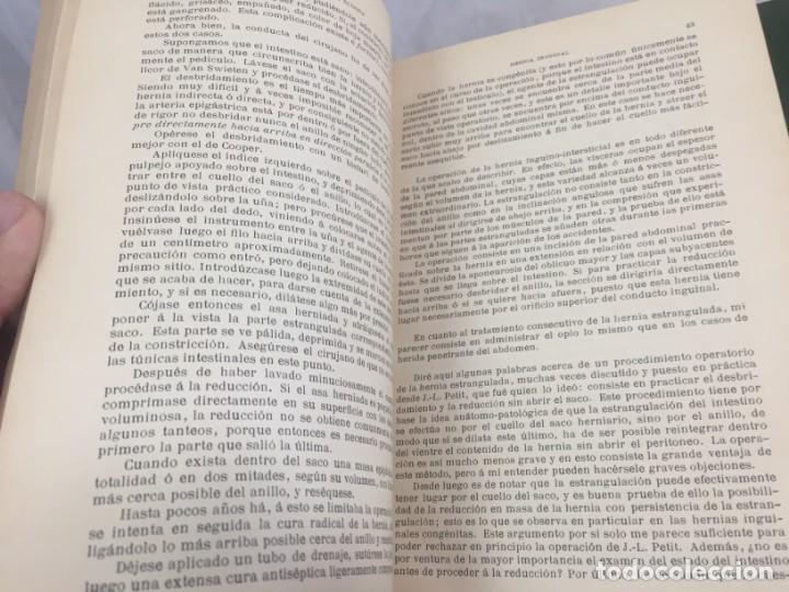 Libros antiguos: Cirugia Clínica Tratado 1895 p. Tillaux dos tomos media piel buen estado - Foto 14 - 221568770