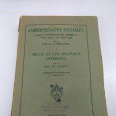 Libros antiguos: LIBRO ENFERMEDADES SEXUALES Y SIFILIS ORGANOS INTERNOS DR. MEIROWSKY Y DR.SCHOTT AÑO 1933. Lote 145806890