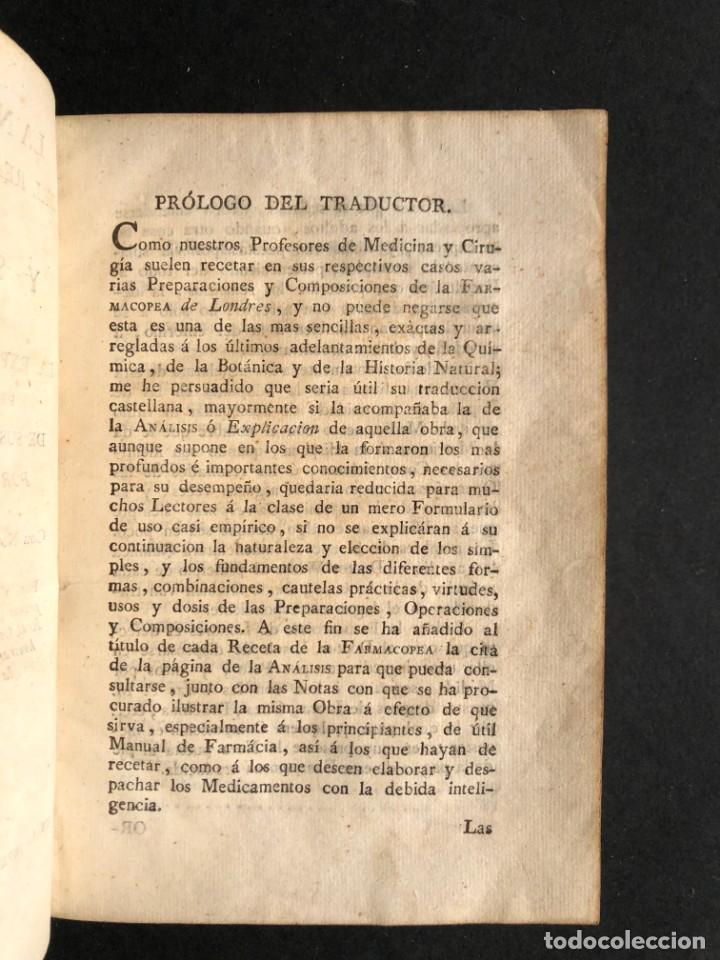 Libros antiguos: 1797 La nueva farmacopea del Real Colegio de Medicos de Londres - Medicina - Farmacia - White, Rober - Foto 4 - 146484070