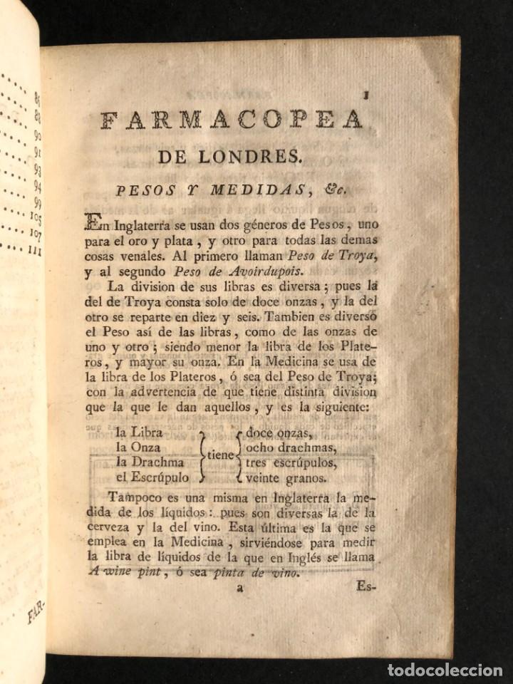 Libros antiguos: 1797 La nueva farmacopea del Real Colegio de Medicos de Londres - Medicina - Farmacia - White, Rober - Foto 6 - 146484070