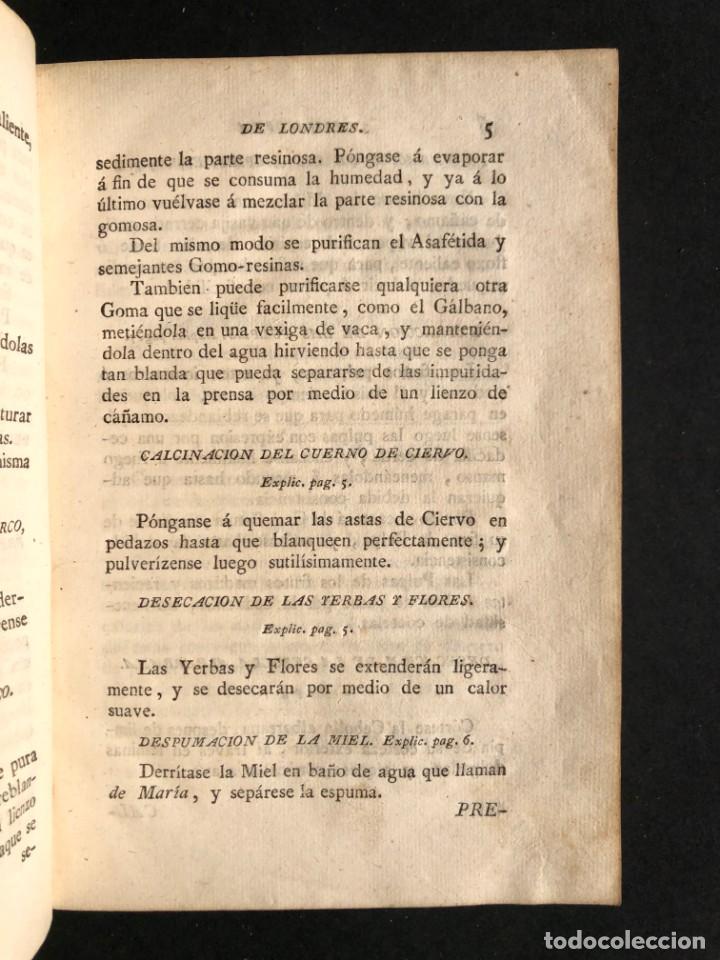 Libros antiguos: 1797 La nueva farmacopea del Real Colegio de Medicos de Londres - Medicina - Farmacia - White, Rober - Foto 7 - 146484070