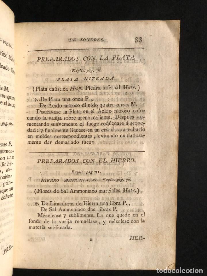 Libros antiguos: 1797 La nueva farmacopea del Real Colegio de Medicos de Londres - Medicina - Farmacia - White, Rober - Foto 10 - 146484070