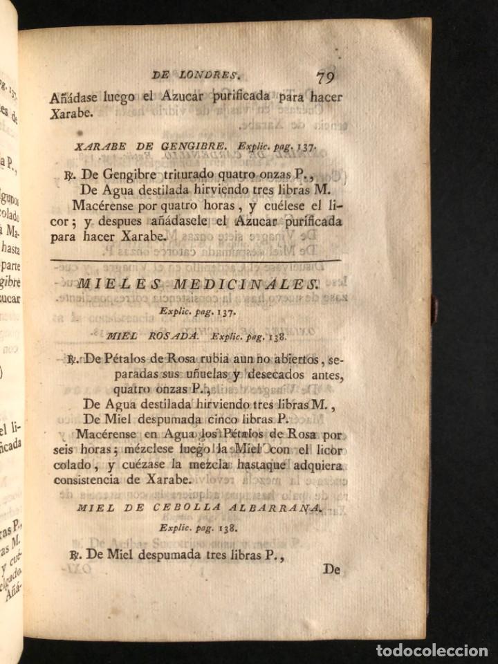 Libros antiguos: 1797 La nueva farmacopea del Real Colegio de Medicos de Londres - Medicina - Farmacia - White, Rober - Foto 13 - 146484070