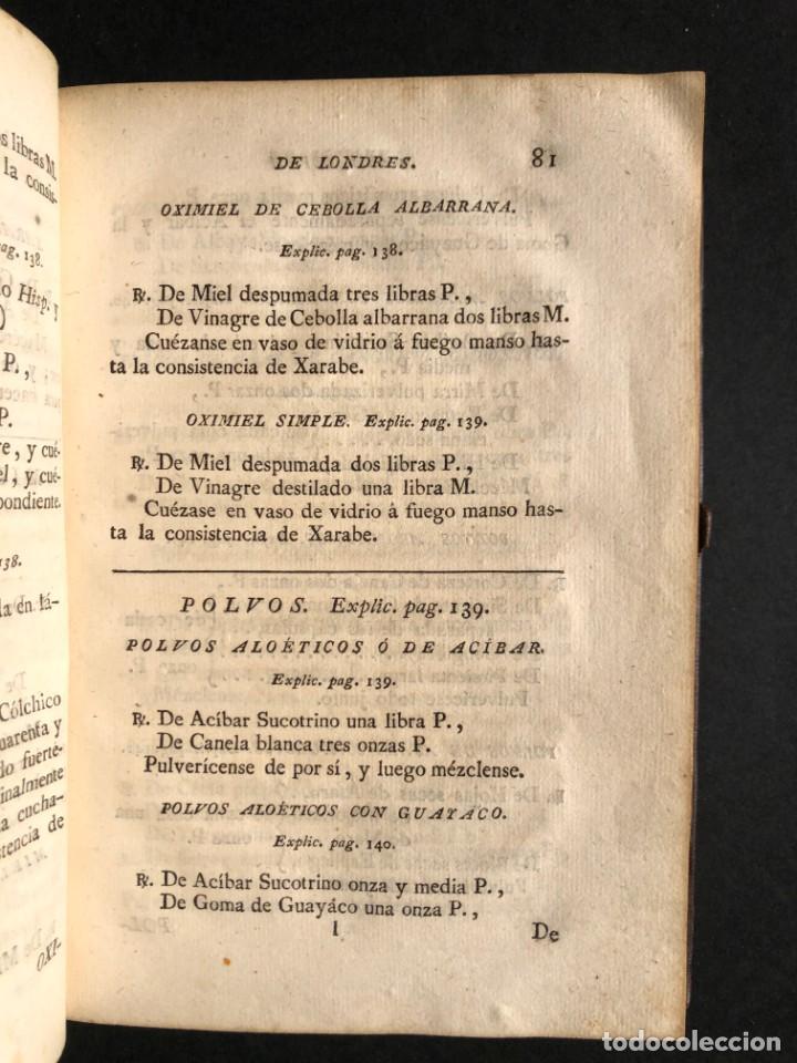 Libros antiguos: 1797 La nueva farmacopea del Real Colegio de Medicos de Londres - Medicina - Farmacia - White, Rober - Foto 14 - 146484070