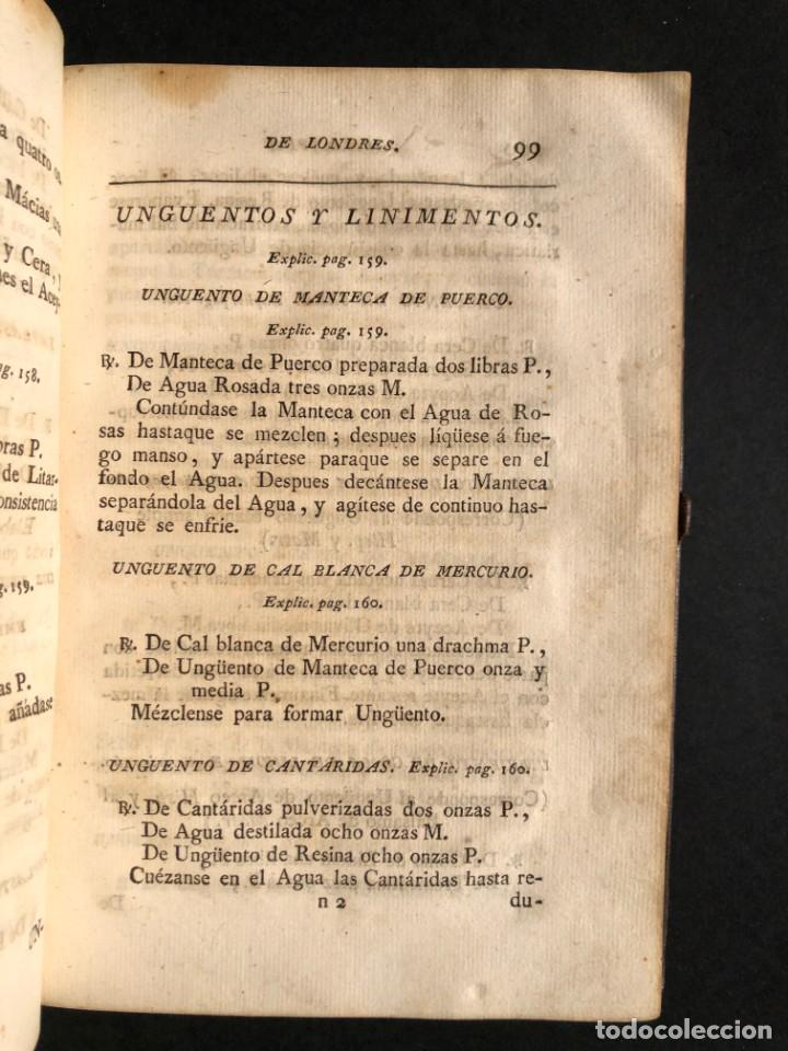 Libros antiguos: 1797 La nueva farmacopea del Real Colegio de Medicos de Londres - Medicina - Farmacia - White, Rober - Foto 17 - 146484070