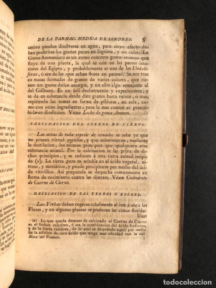 Libros antiguos: 1797 La nueva farmacopea del Real Colegio de Medicos de Londres - Medicina - Farmacia - White, Rober - Foto 24 - 146484070