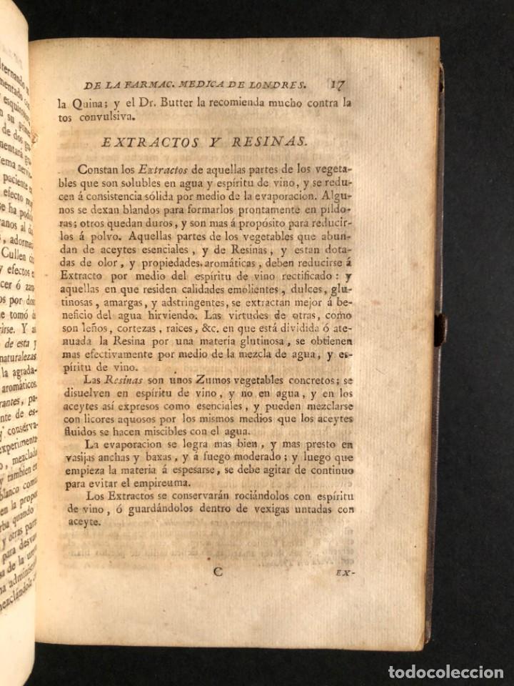 Libros antiguos: 1797 La nueva farmacopea del Real Colegio de Medicos de Londres - Medicina - Farmacia - White, Rober - Foto 25 - 146484070