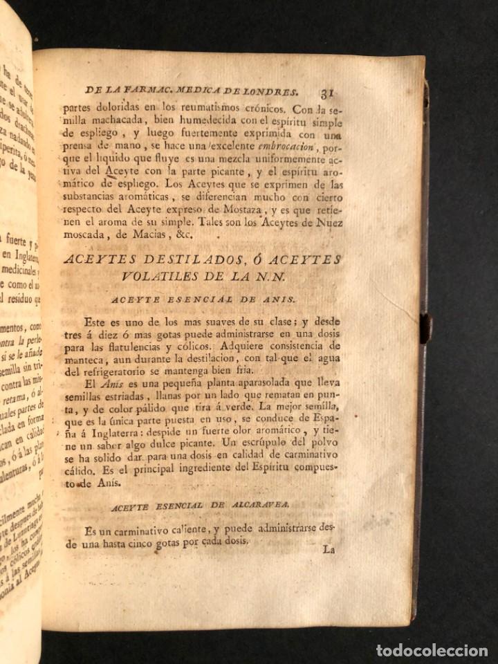 Libros antiguos: 1797 La nueva farmacopea del Real Colegio de Medicos de Londres - Medicina - Farmacia - White, Rober - Foto 26 - 146484070