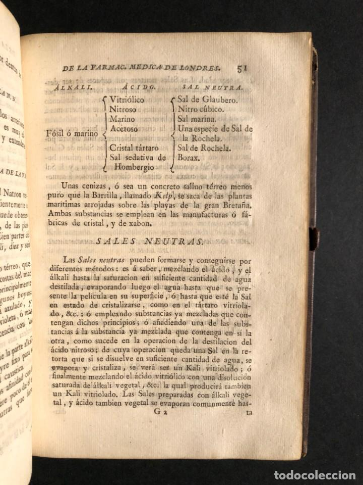Libros antiguos: 1797 La nueva farmacopea del Real Colegio de Medicos de Londres - Medicina - Farmacia - White, Rober - Foto 28 - 146484070