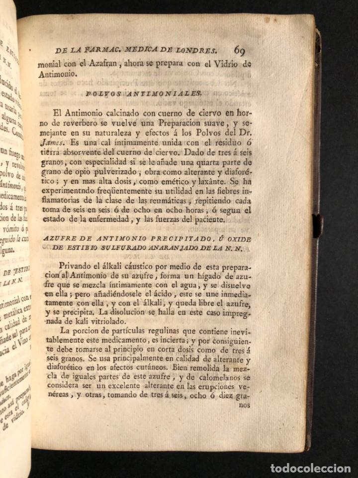 Libros antiguos: 1797 La nueva farmacopea del Real Colegio de Medicos de Londres - Medicina - Farmacia - White, Rober - Foto 29 - 146484070