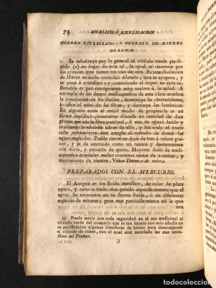 Libros antiguos: 1797 La nueva farmacopea del Real Colegio de Medicos de Londres - Medicina - Farmacia - White, Rober - Foto 30 - 146484070