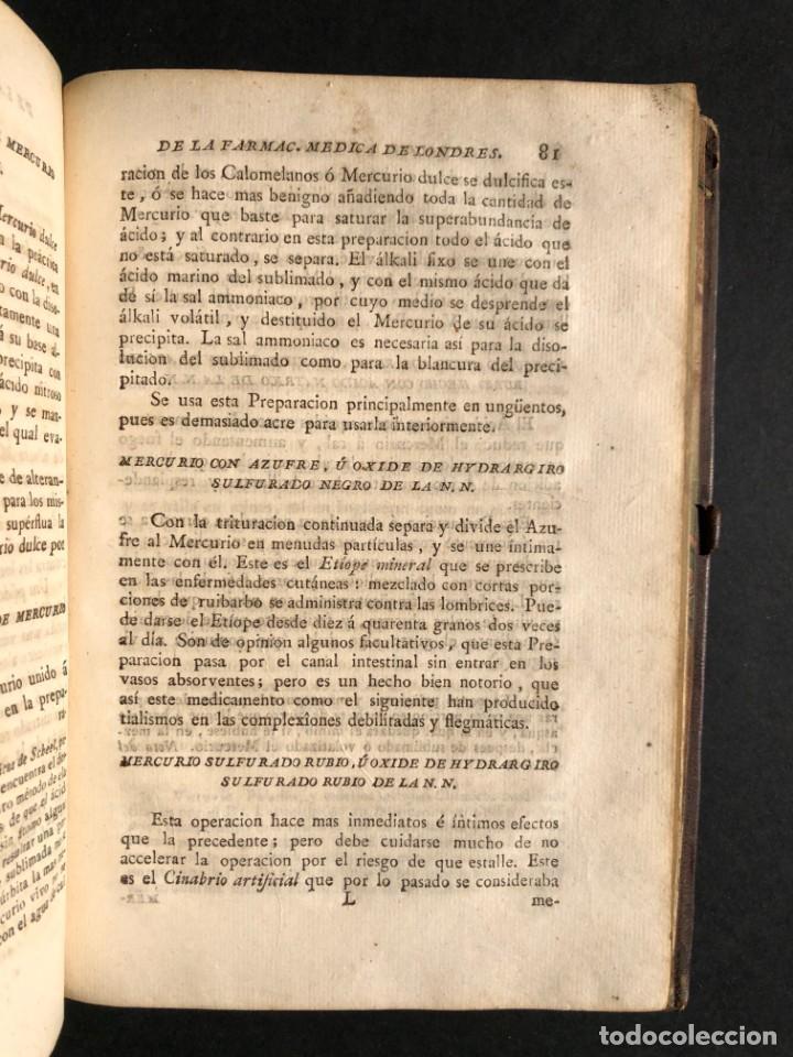 Libros antiguos: 1797 La nueva farmacopea del Real Colegio de Medicos de Londres - Medicina - Farmacia - White, Rober - Foto 31 - 146484070